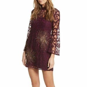 FREE PEOPLE North Star Sequin Lace BLING Dress NWT